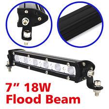 7''18W LED Work Light Bar Flood Beam Offroad 4WD Fog ATV SUV Driving Lamp 12V
