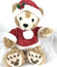 "Disney Parks 12"" Plush Holiday Duffy The Disney Bear Santa Outfit Christmas"