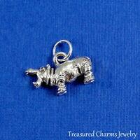 Silver HIPPOPOTAMUS HIPPO CHARM PENDANT