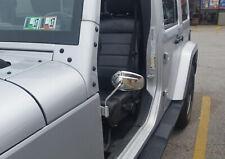 Chrome RearView Side Mirror For Jeep Wrangler Door off Mirrors JK JKU TJ 87-2019