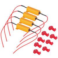 4x 6 ohm Load Resistor 50W Turn Signal Blinker Fix LED Bulb Hyper Flash Accessor