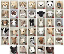 (5) DIFFERENT COLLECTABLE FARM ANIMAL FUR MAGNETS. OUR CHOICE. VERY LIFE LIKE!