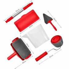PAINT ROLLER BRUSH TOOL KIT 6 PCS PROFESSIONAL EASY USE HOME OFFICE DECORATING