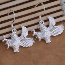 925 Striking Silver Hawk Drop Earrings Bird Prey Falcon Sorceress Of Greyskull