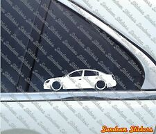 2X Lowered car outline JDM stickers - for Nissan Altima 3rd gen (L31, 2002–2006)