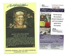 Billy Williams Chicago Cubs Baseball Hall of Fame Autograph Plaque Postcard JSA