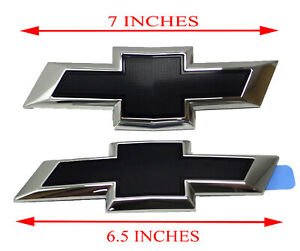 84337320 Front and Rear Bowtie Emblems in Black 2016-2018 Chevrolet Malibu