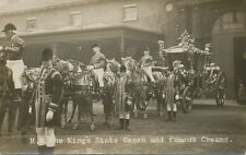 UK * H.M. The King's State Coach and Famous Creams Horses RPPC * Albert Broom