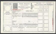 STORIA POSTALE REGNO 1934 Modulo Pacchi Postali 2L su 2,5L NUOVO (E7)