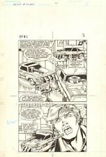 Flash Force 2000 #1 p.3 - Working on Cars - Matchbox Car 1983 art by Sal Trapani Comic Art