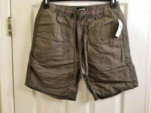 Zanerobe Men's Omni Linen Blend Shorts, Size 32 - Peat Green
