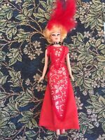 Vintage 1960s Carole Channing Doll From Hello Dolly in Original Clothes