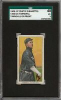 Rare 1909-11 T206 Lee Tannehill On Front Tolstoi Back Chicago SGC 40 / 3 VG