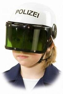 Polizei Helm Polizeihelm Kinder Polizist Cap Police Hut Mütze Kostüm Uniform