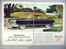 Nash Ambassador Country Club Double-Page PRINT AD - 1953