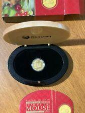 2008 lunar II proof mouse 1/4 25$ dollars Coa box case perth mint gold