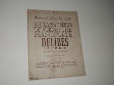 Delibes - La Source - Suite from the Ballet : Piano solo: Edition Lafleur 226