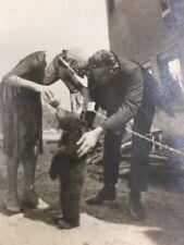 Vintage Feeding Time For A Black Bear 🐻 Cub  Nursing From Bottle Photo