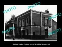 OLD LARGE HISTORIC PHOTO DALSTON LONDON ENGLAND THE ALBION TAVERN c1940