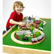 John Crane Tidlo City of London Wooden Train Set - Compatible with Brio
