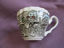 Johnson Brothers England China Coffee Tea Cup Horse Coaching Scene
