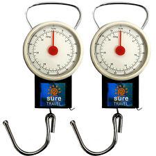 Seguro De Viaje Equipaje Maleta balanzas Portátil + Paquete doble de cinta de medir,
