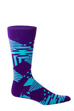 Teal and Purple Athletic Argyle HS Mens Socks Size 9-13