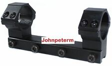"""30mm One Piece Rifle Scope 10 11mm 3/8"""" Dovetail Mount Ring Long 100mm Rail"""
