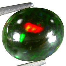 2.175CT ULTRA RARE GREEN MULTI COLOR BLACK NATURAL ETHIOPIAN OPAL OVAL SEE VIDEO