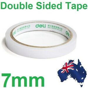 1 x White Roll of Double-sided Super Strong Thin Adhesive Tape Sticker 7mm Tissu