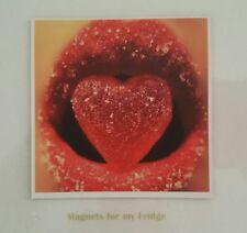 SUGAR HEART & LIPS PHOTO FRIDGE MAGNET  -  M92