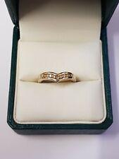 14ct Yellow Gold .15 Diamonds Wishbone ring