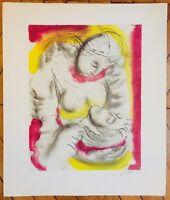 Hans Erni Lithographie signée 1962  l'histoire et la mythologie Suisse