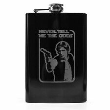 8oz BLACK Never Tell Me the Odds Flask L1