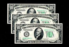 1934 A Federal Reserve Notes New york 3 Consecutive Uncirculated