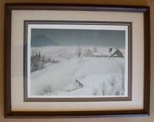 """Lithograph by Mel Hunter, Artist-""""January Night""""-1974-Signed-102 / 290-Excellent"""