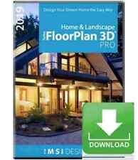 TurboFloorPlan Pro 2019 Home & Landscape Design CAD Software Windows -- Download