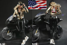"""1/6 Motorcycle Leather Jacket Set For 12"""" PHICEN Hot Toys Female Figure ❶USA❶"""