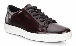 NEW Ecco Soft 7 Luxe Tie Fashion Sneaker 430424 Bordeaux Ox Blood Mens Size 12 C