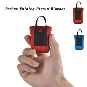Mini Pocket Picnic Blanket Lightweight Waterproof Foldable Beach Travel Camping