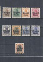 Landespost in Belgien, Michelnrn. aus 10 - 25 **, postfrisch **, Michel € 17,00