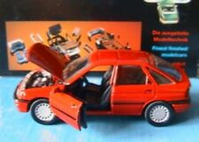 FORD ESCORT GHIA BERLINE 4 PORTES SCHABAK RED 1/43 1990 ROSSO ROUGE ROT LHD