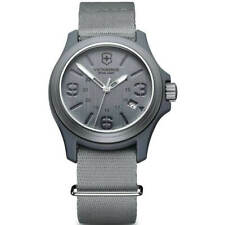 Victorinox Swiss Army Men's Watch Grey Dial Nylon Strap 241515 - Official Dealer