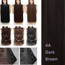 Real Thick as Natural One Piece 5 Clips Clip in Hair Extensions Blonde Brown AY4