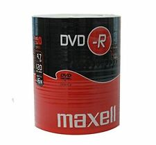 Maxell DVD-R 120 Minutes 4.7GB 16X Speed Recordable Blank Discs - 100 Pack