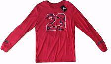#23 Jordan Nike Jumpman Long Sleeve Graphic Tee T-Shirt Red Mens XL XLarge NWT