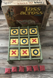 Vintage Toss Across Game By IDEAL 1969 Original Box - SEE ALL PHOTOS! REVIEWS!