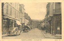Blangy-Sur-Bresle France~La Grande Rue~Main Street~Renault~Bijou Fix~1930s B&W