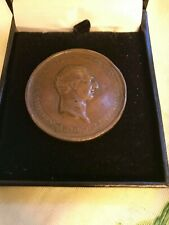 More details for genuine george washington voltaire bronze medal 1778 authenticated by bonhams...