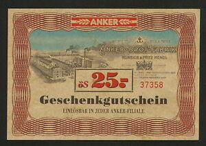 AUSTRIA-BON-ANKER-BROT-FABRIK-BON FOR PAYMENT